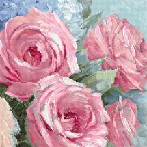 Kit Punto Croce - Letistitch - Rose pallide