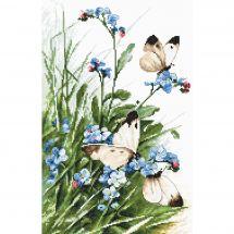 Kit Punto Croce - Letistitch - Farfalle e fiori blu