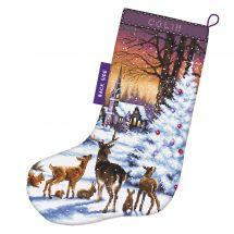 Kit calza di Natale da ricamare - Letistitch - Nel bosco