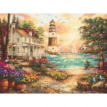 Kit Punto Croce - Letistitch - Cottage con vista mare
