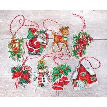 Kit di ornamenti da ricamare - Letistitch - Kit di figurine di Natale n°1