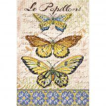 Kit Punto Croce - Letistitch - Farfalle vintage 1