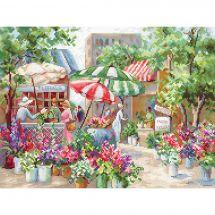 Kit Punto Croce - Letistitch - Mercato dei fiori