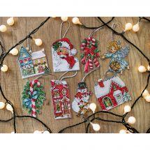 Kit di ornamenti da ricamare - Letistitch - Kit di figurine di Natale n°2