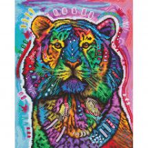 Kit Punto Croce - Letistitch - Tigre curiosa