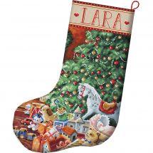 Kit calza di Natale da ricamare - Letistitch - Caldo Natale