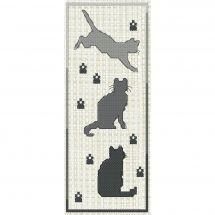 Kit segnalibro da ricamo - Luc Créations - I gatti