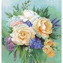 Kit Punto Croce - Luca-S - Bouquet floreale