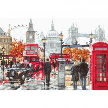 Kit Punto Croce - Luca-S - Cuscino da ricamare Londra