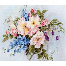 Kit Punto Croce - Luca-S - Mazzo di fiori