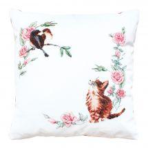 Kit cuscino da ricamo - Luca-S - Curioso gattino