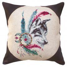 Kit cuscino da ricamo - Luca-S - Spirito del lupo