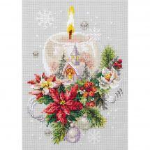 Kit Punto Croce - Magic Needle - Candela di Natale
