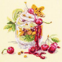 Kit Punto Croce - Magic Needle - Dolce alla ciliegia