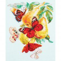 Kit Punto Croce - Magic Needle - Farfalle e pere