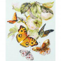 Kit Punto Croce - Magic Needle - Farfalle e mele