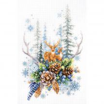 Kit Punto Croce - Magic Needle - Spirito della foresta d'inverno