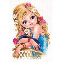 Kit Punto Croce - Magic Needle - La ragazza più carina