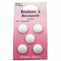 Bottoni da ricoprire - Couture loisirs - 5 bottoni per cucire - 18 mm