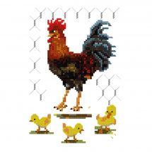 Kit Punto Croce - Luc Créations - Il gallo