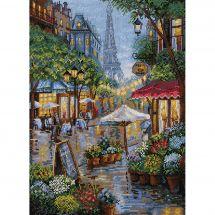 Kit Punto Croce - Merejka - Parigi piovosa