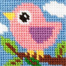 Kit di tela per bambini - Orchidéa - Uccello