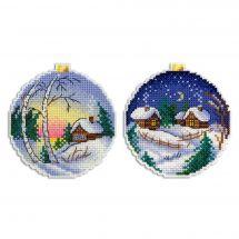 Kit di ornamenti da ricamare - MP Studia - Paesaggio d'inverno