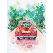Kit Punto Croce - Aquarelle by MP Studia - Just married
