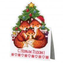 Kit di ornamenti da ricamare - MP Studia - Famiglia di volpi