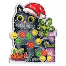 Kit di ornamenti da ricamare - MP Studia - Gatto di Natale