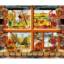 Canovaccio antico - Luc Créations - 4 stagioni alla finestra
