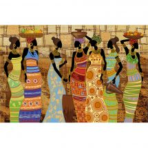 Kit di ricamo con perline - Nova Sloboda - Bellezze africianes