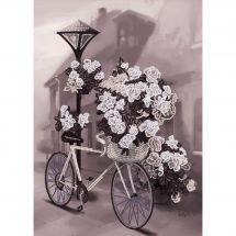 Kit di ricamo con perline - Nova Sloboda - Bicicletta a fiori
