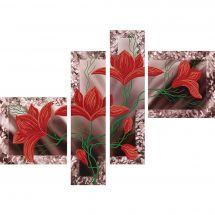 Kit di ricamo con perline - Nova Sloboda - Sboccio di fiori - polyptique