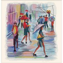 Kit Punto Croce - Nova Sloboda - Dipingerò sotto la pioggia