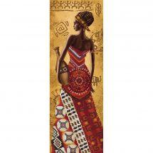 Kit di ricamo con perline - Nova Sloboda - Donna africana con una giara