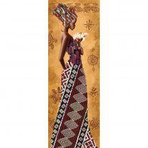Kit di ricamo con perline - Nova Sloboda - Donna africana con giglio