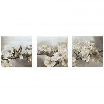 Kit punto croce con perle - Nova Sloboda - Giardino fiorito - trittico