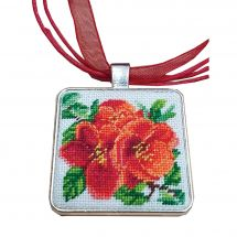 Kit gioielli da ricamo - Life is beautiful - Pendente fiori di melograno