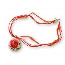 Kit gioielli da ricamo - Life is beautiful - Ciondolo germoglio floreale
