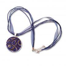 Kit di gioielli per ricamare perline - Life is beautiful - Ciondolo blues