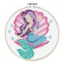 Kit punto croce con tamburo - Ladybird - Sogni di sirena