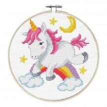 Kit punto croce con tamburo - Ladybird - Grazioso unicorno