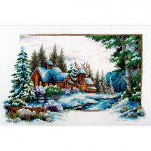 Kit Punto Croce - Needleart World - Paesaggio di neve