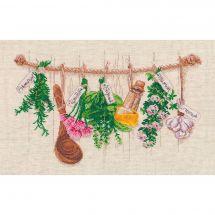 Kit Punto Croce - Oven - Piante aromatiche