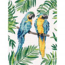 Kit Punto Croce - Oven - Macao blu e giallo