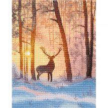 Kit Punto Croce - Oven - Nella foresta invernale