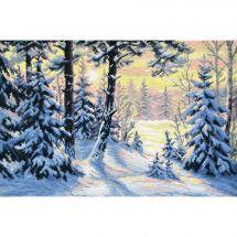 Kit Punto Croce - Oven - Foresta di inverno