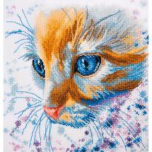 Kit Punto Croce - Oven - Testa di gatto