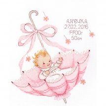 Kit Punto Croce - Oven - Un piccolo regalo - Una ragazza